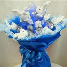 7 adet pelus ayicik buketi  sincan çiçekçi Ankara Sincan internetten çiçek satışı