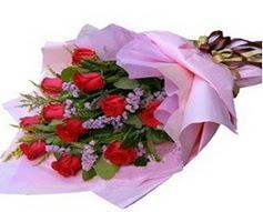 11 adet kirmizi güllerden görsel buket  Ankara Sincan çiçek , çiçekçi , çiçekçilik