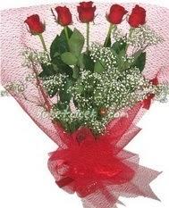 5 adet kirmizi gülden buket tanzimi  Ankara Sincan ucuz çiçek gönder