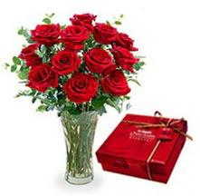 Ankara Sincan çiçek siparişi vermek  10 adet cam yada mika vazoda gül çikolata