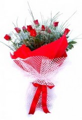 Online Ankara Sincan çiçek satışı  9 adet kirmizi gül buketi demeti