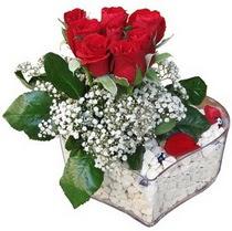 Ankara Sincan çiçek gönderme sitemiz güvenlidir  kalp mika içerisinde 7 adet kirmizi gül