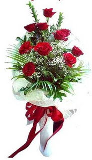 Online Ankara Sincan çiçekçiler  10 adet kirmizi gül buketi demeti