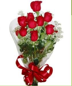 Ankara Sincan çiçek servisi , çiçekçi adresleri  10 adet kırmızı gülden görsel buket