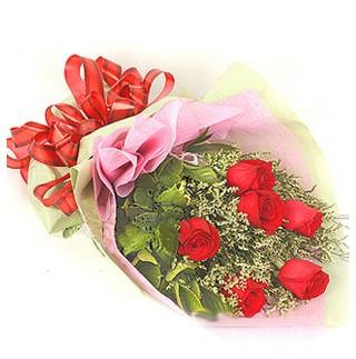 sincan çiçekçi Ankara Sincan internetten çiçek satışı  6 adet kırmızı gülden buket