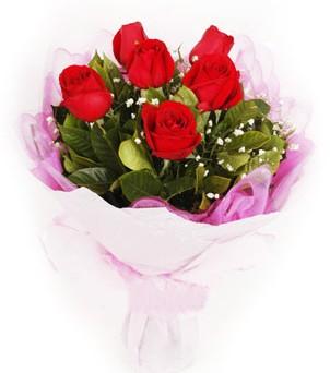 Ankara Sincan güvenli kaliteli hızlı çiçek  kırmızı 6 adet gülden buket