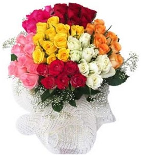 Ankara Sincan çiçekçi mağazası  51 adet farklı renklerde gül buketi