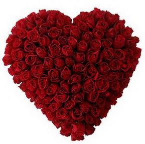 Ankara Sincan çiçek siparişi vermek  muhteşem kırmızı güllerden kalp çiçeği