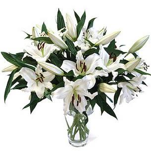 Ankara Sincan çiçekçi mağazası  3 dal görsel casablanca vazo tanzimi