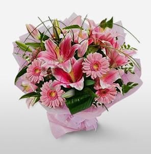 1 dal kazablanka ve kır çiçek görsel buketi  cicek siparisi Ankara Sincan cicek , cicekci
