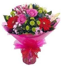 Karışık mevsim çiçekleri demeti  Çiçek siparişi Ankara Sincan anneler günü çiçek yolla