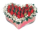 Ankara Sincan çiçekçi mağazası  mika kalpte kirmizi güller 9