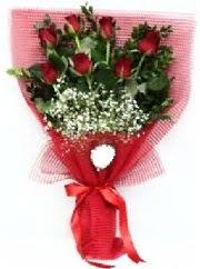 7 adet kırmızı gülden buket tanzimi  Ankara Sincan hediye sevgilime hediye çiçek