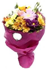 1 demet karışık görsel buket  Ankara Sincan kaliteli taze ve ucuz çiçekler