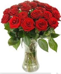 Ankara Sincan çiçek yolla , çiçek gönder , çiçekçi   Vazoda 15 adet kırmızı gül tanzimi