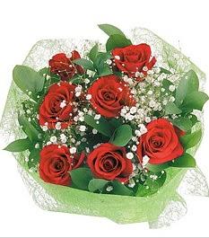 7 adet kırmızı gülden buket tanzim  Ankara Sincan hediye sevgilime hediye çiçek