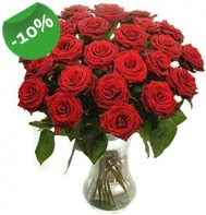 Vazo içerisinde 25 adet kırmızı gül  Ankara Sincan hediye sevgilime hediye çiçek