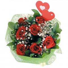 Vazo içerisinde 9 gül ve 2 kalp çubuk  Ankara Sincan uluslararası çiçek gönderme