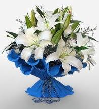 4 dal kazablanka çiçeğinden buket  Ankara Sincan hediye sevgilime hediye çiçek