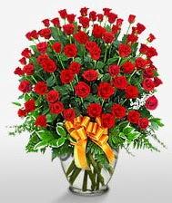 Görsel vazo içerisinde 101 adet gül  Ankara Sincan hediye sevgilime hediye çiçek
