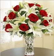 12 adet kırmızı gül 2 dal kazablanka vazosu  Ankara Sincan çiçek siparişi sitesi
