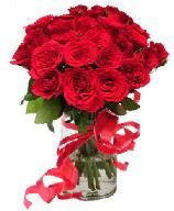 21 adet vazo içerisinde kırmızı gül  Ankara Sincan çiçek siparişi sitesi