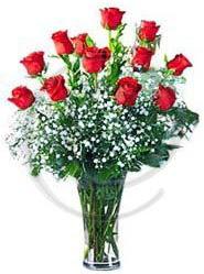 vazo içerisinde 12 adet kırmızı gül  Ankara Sincan çiçek servisi , çiçekçi adresleri