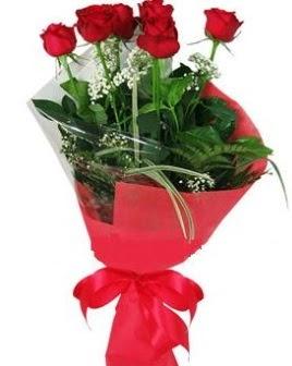 5 adet kırmızı gülden buket  Ankara Sincan İnternetten çiçek siparişi