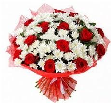 11 adet kırmızı gül ve 1 demet krizantem  Ankara Sincan çiçek yolla , çiçek gönder , çiçekçi