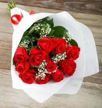 9 kırmızı gülden buket çiçeği  Ankara Sincan hediye çiçek yolla
