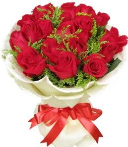 19 adet kırmızı gülden buket tanzimi  Ankara Sincan online çiçekçi , çiçek siparişi