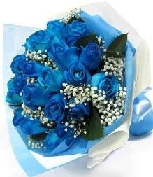 15 adet mavi gülden şahane eşsiz buket  Ankara Sincan çiçek servisi , çiçekçi adresleri