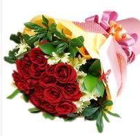 12 adet kırmızı gül ve papatyalar  Ankara Sincan kaliteli taze ve ucuz çiçekler
