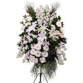 Ankara Sincan hediye sevgilime hediye çiçek  Ferforje beyaz renkli kazablanka