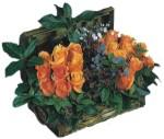 Ankara Sincan uluslararası çiçek gönderme  Oranj kaliteli bir gül sandigi