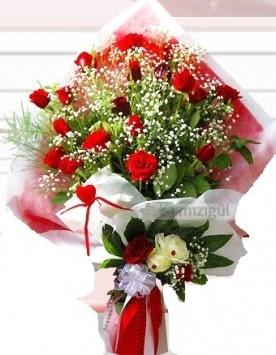 Kız isteme buketi çiçeği 41 güllü  Online Ankara Sincan çiçek satışı