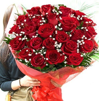 Kız isteme çiçeği buketi 33 adet kırmızı gül  Ankara Sincan çiçek , çiçekçi , çiçekçilik