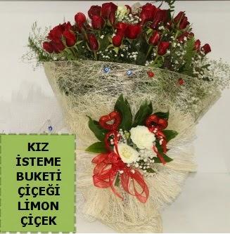 27 adet kırmızı gülden kız isteme buketi  Ankara Sincan çiçek siparişi sitesi