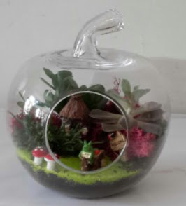 Elma cam orta boy terrarium teraryum  Ankara Sincan hediye çiçek yolla