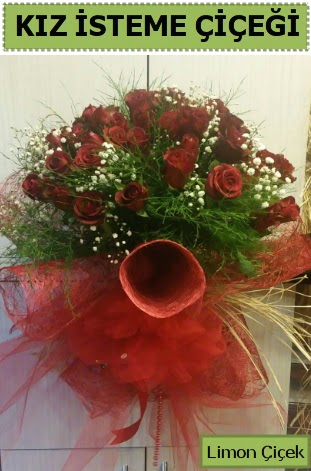 41 adet kırmızı gülden kız isteme buketi  Ankara Sincan çiçek siparişi sitesi