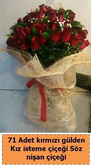 71 adet kırmızı gül söz nişan çiçeği  Ankara Sincan çiçek siparişi sitesi