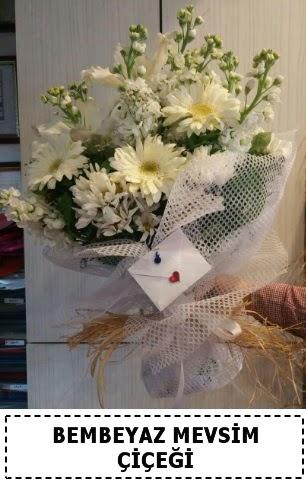 Bembeyaz görsel mevsim çiçek buketi  Ankara Sincan ucuz çiçek gönder