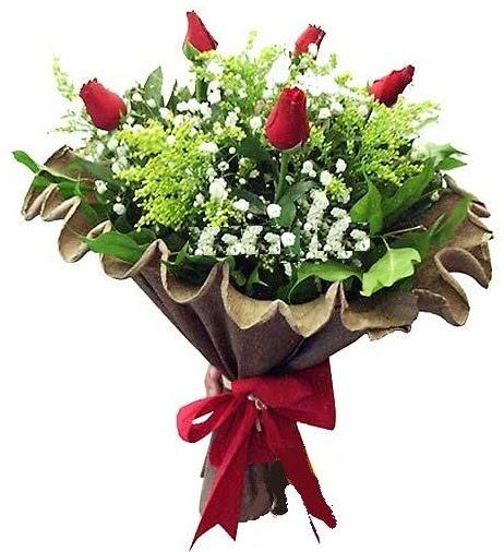 5 adet gülden buket  Ankara Sincan çiçek , çiçekçi , çiçekçilik