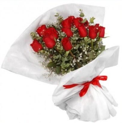 9 adet kırmızı gül buketi  Ankara Sincan çiçek siparişi vermek