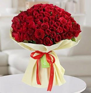101 adet kırmızı gül buketi koca demet  Ankara Sincan uluslararası çiçek gönderme