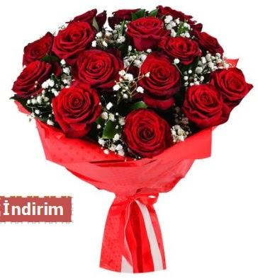 12 Adet kırmızı aşk gülleri  Ankara Sincan çiçek siparişi sitesi