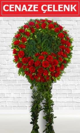 Kırmızı Çelenk Cenaze çiçeği  Online Ankara Sincan çiçek satışı
