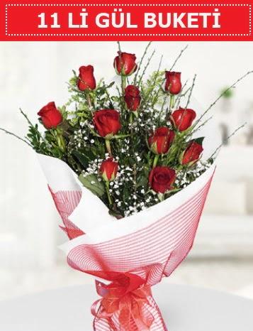 11 adet kırmızı gül buketi Aşk budur  Ankara Sincan çiçek , çiçekçi , çiçekçilik