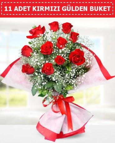 11 Adet Kırmızı Gül Buketi  Ankara Sincan uluslararası çiçek gönderme