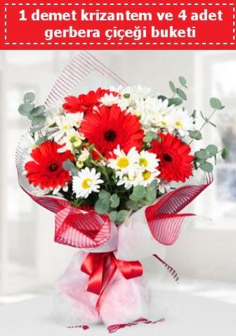 Krizantem ve Gerbera Buketi  Ankara Sincan online çiçek gönderme sipariş